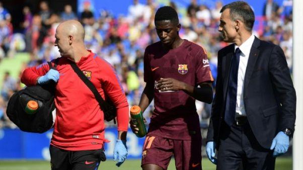 """""""Courage Ousmane"""", disent les joueurs du Barça à Dembélé"""