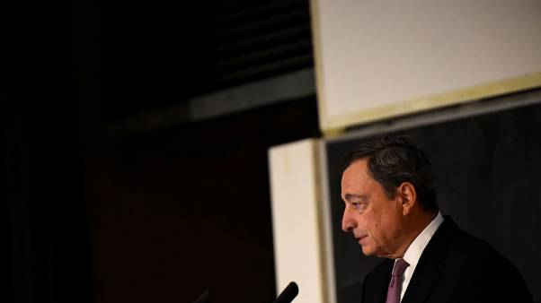Euro zone governments, not the ECB must tackle bubbles: Draghi
