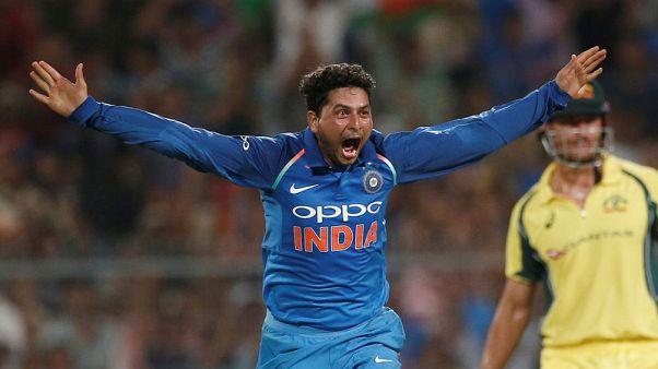 India spinner Kuldeep takes hat-trick against Australia