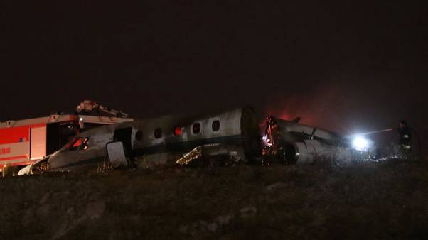 Istanbul's Ataturk airport closed after jet crashes on runway - Dogan