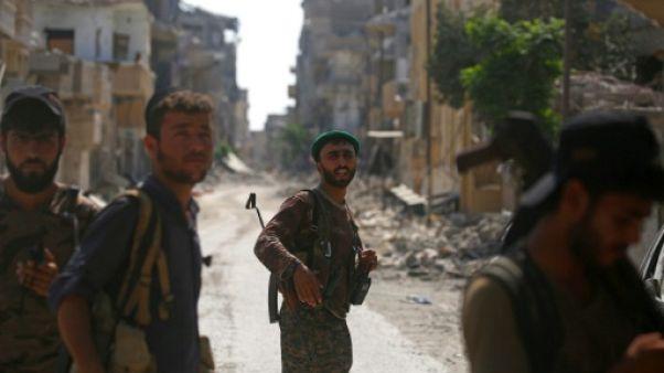 """Syrie: à Raqa, la bataille """"historique"""" contre l'EI touche à sa fin"""