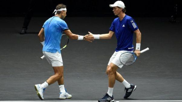 """Tennis: l'""""Europe"""" mène 3 à 1 face au """"Reste du Monde"""" lors de la Laver Cup"""