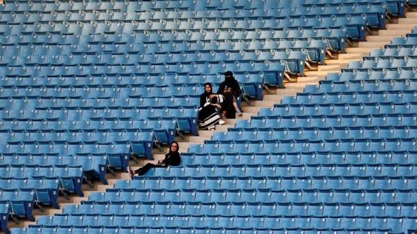 Women allowed into stadium as Saudi Arabia promotes national pride, part of reform push