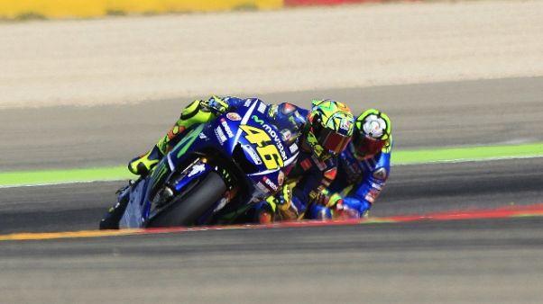 Gp Aragon: vince Marquez, Rossi-show 5/o