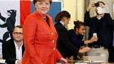 Merkel on track for fourth term after German election - exit poll