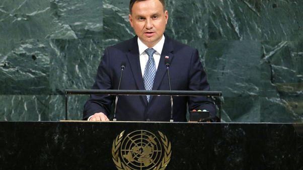 Polish president unveils court reform in democratic litmus test