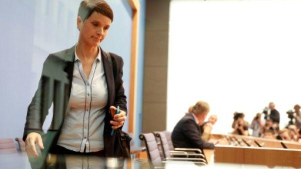 Allemagne: une dirigeante de l'AfD se désolidarise du mouvement