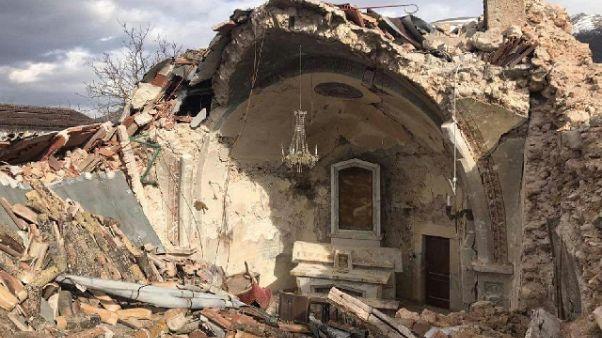 Umbria, procede rimozione macerie sisma