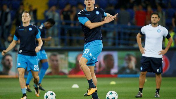 Napoli striker Milik may face knee surgery