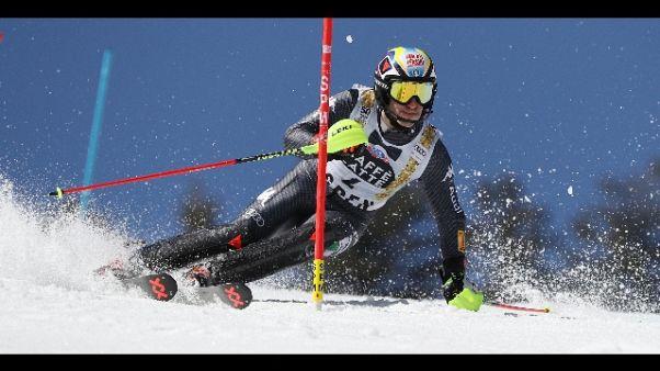 Sci: slalomgigantisti azzurri a Saas Fee