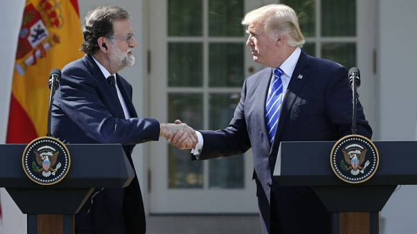 Trump, Spanish PM Rajoy say they oppose Catalonia independence bid