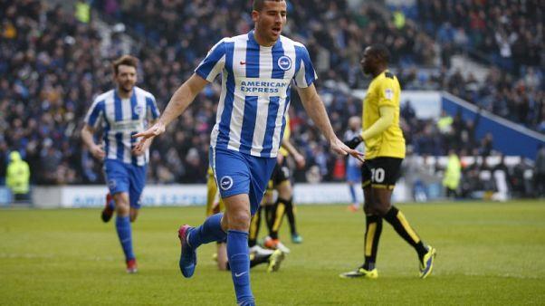 Brighton striker Hemed handed three-match ban for violent conduct
