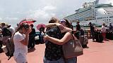 Evacuees leave Puerto Rico by cruise ship, some doubting they will return