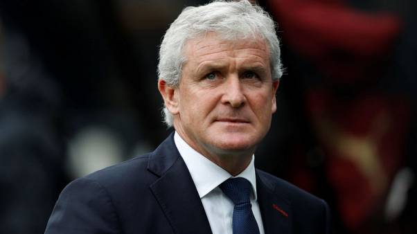 Stoke's Hughes waits on defenders ahead of Southampton visit