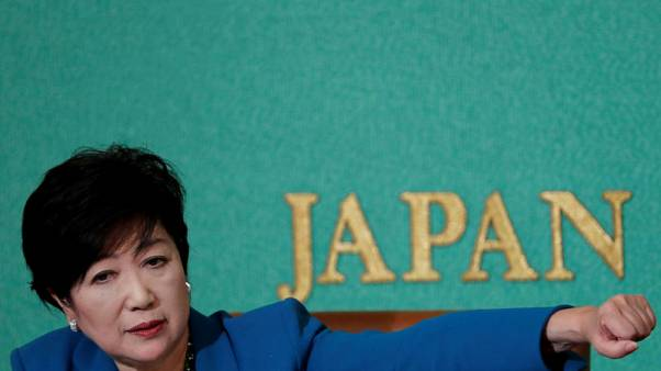 Energised challenge by Tokyo governor exposes risk of PM Abe's snap poll decision