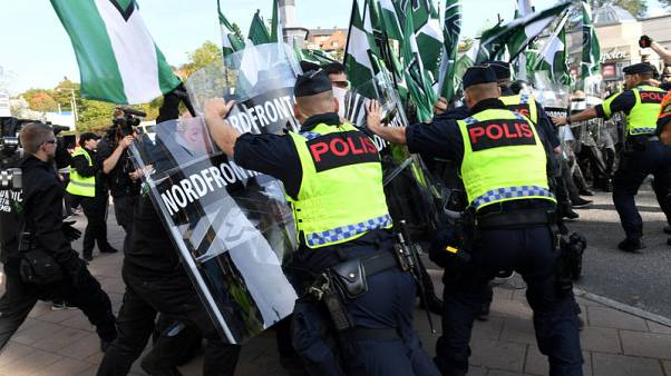 Dozens arrested during neo-Nazi march in Sweden