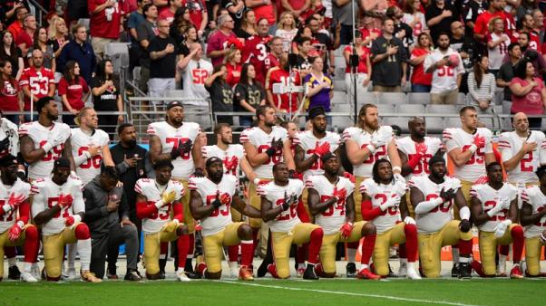 Some NFL players kneel again despite Trump's fresh call for protests to end