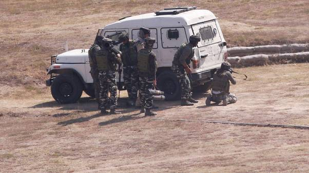 Three killed as militants attack airport security camp in Indian-controlled Kashmir