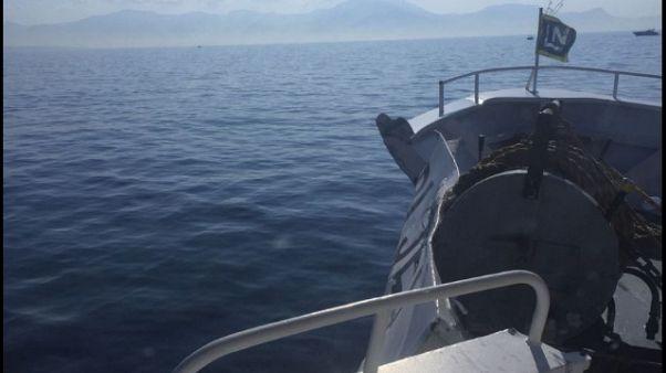 Aliscafo contro barca in Golfo di Napoli