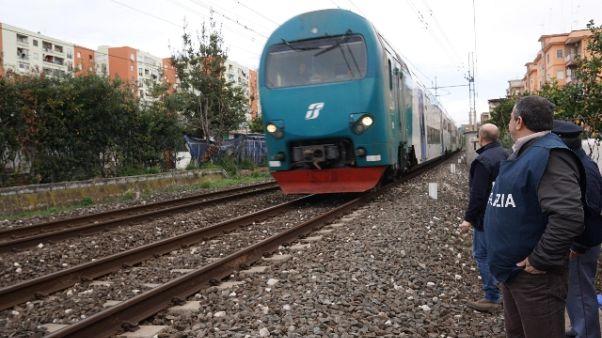 Passeggeri treno molestati da baby gang