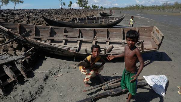 Bangladesh destroys boats ferrying Rohingya from Myanmar