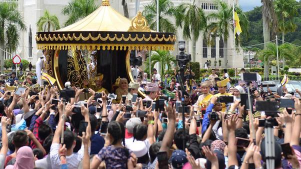 Your gilded chariot awaits - Brunei sultan celebrates 50 years in power