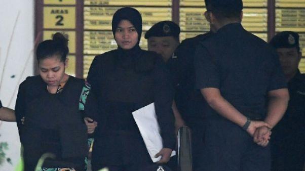 Assassinat de Kim: traces de produit mortel sur les habits des accusées