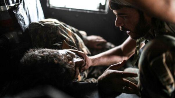 Syrie: sortir de Raqa, une question de vie ou de mort pour les blessés