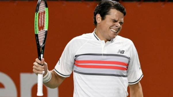 Tennis: abandon de Milos Raonic, touché au mollet droit à Tokyo
