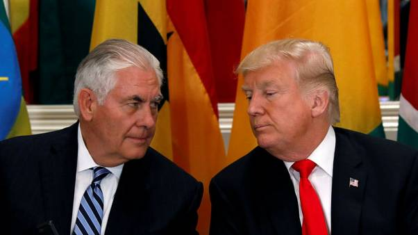 Trump denies Tillerson threatened to resign -Twitter