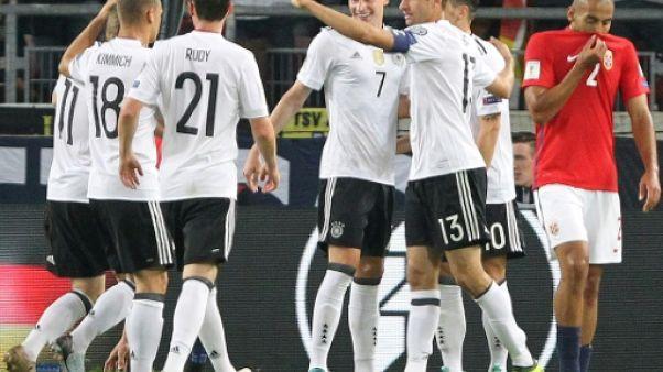 """Mondial-2018: l'Allemagne joue sa """"finale"""" contre l'Irlande du Nord"""
