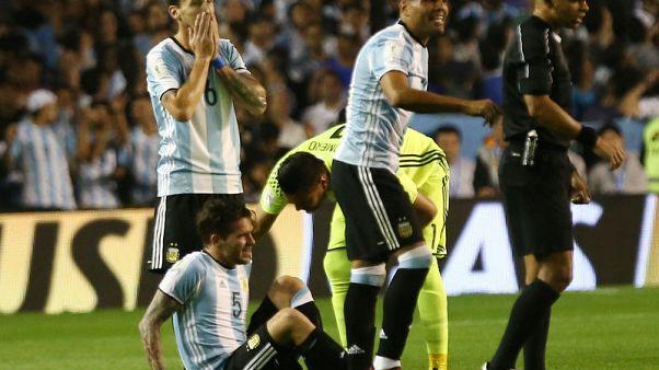 Argentina midfielder Gago ruptures knee ligaments in Peru draw