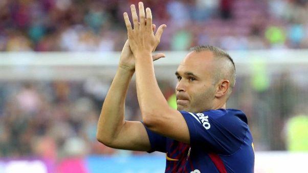 Iniesta rinnova, col Barcellona a vita