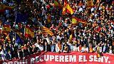 Catalogne: plusieurs centaines de milliers de manifestants contre l'indépendance à Barcelone