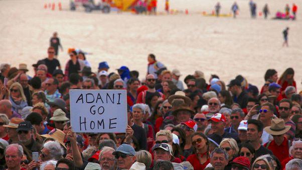 Thousands protest across Australia against giant Adani coal mine