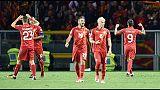 Rivera, ieri divertiti solo i macedoni