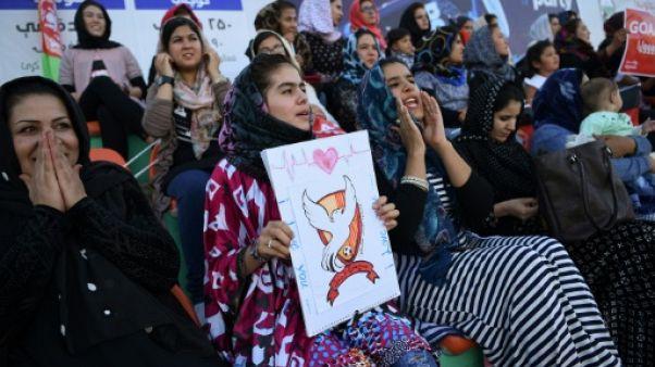 Des Afghanes déchaînées dans les gradins du foot