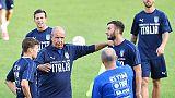 L'allenamento degli azzurri a Torino