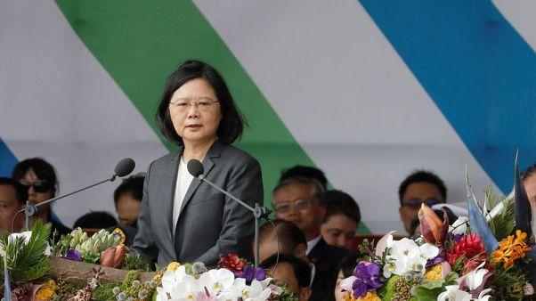 Taiwan President Tsai pledges to defend island's freedoms