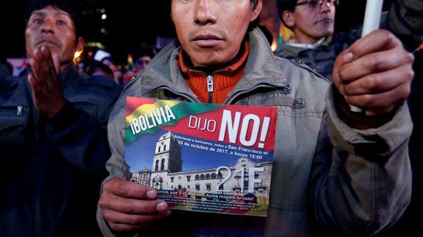 Bolivians protest Morales' new bid to extend term limits