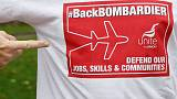 Workers call on UK PM May to be more visible in Bombardier dispute
