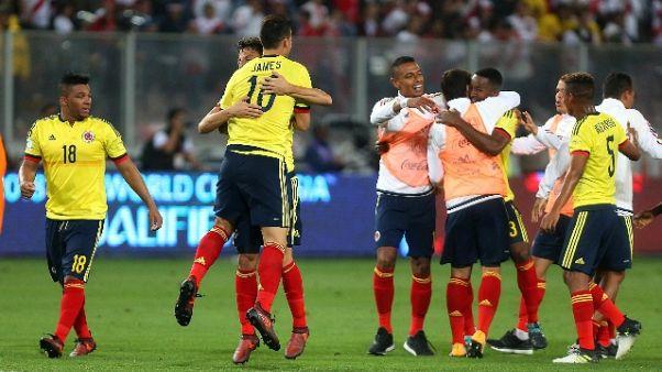 Mondiali: Perù-Colombia,dialogo sospetto