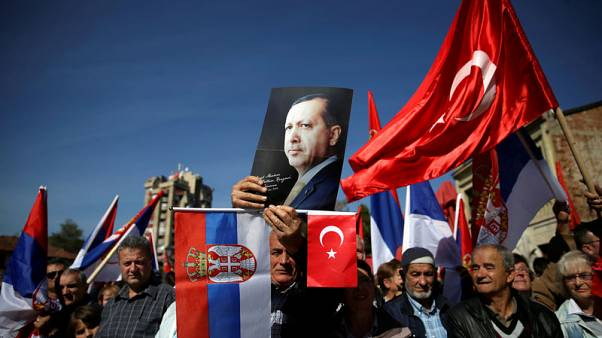 Turkey's Erdogan gets warm welcome in mainly Muslim Serbian town