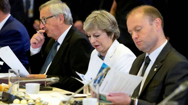 EU to offer May hope of post-Brexit talks at summit - draft text