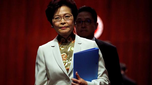 Hong Kong leader can't rule out barring even former governor Patten as China flexes muscles