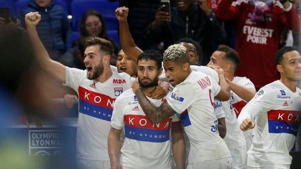 Late Fekir free kick gives Lyon win over Monaco