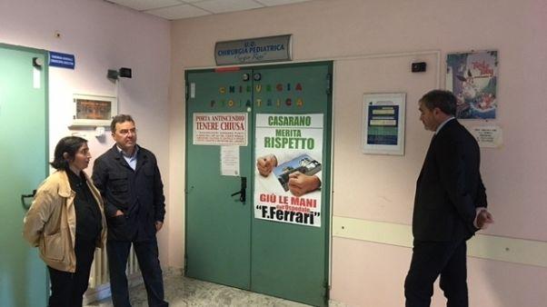 Continua presidio in ospedale Puglia