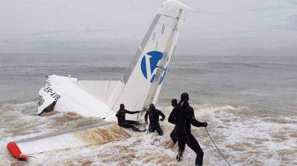 Plane crashes into sea near Abidjan, Ivory Coast airport - witness