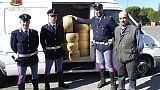 Polizia trova 2500 kg parmigiano rubati