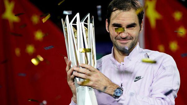 Federer eyes ATP Finals title, top ranking after Shanghai triumph